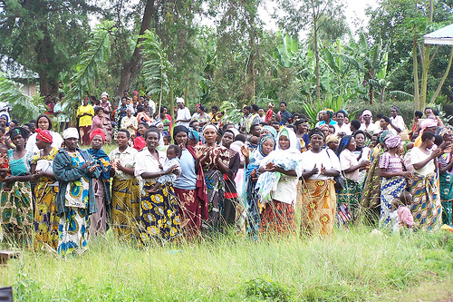 The long line in Rwanda by Women for Women.